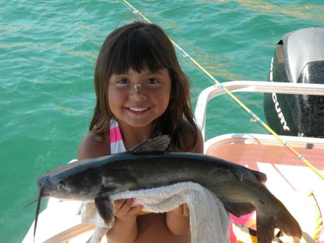 My 5 Year Old Daughter Cristina Fishing Lake Havasu